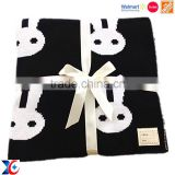 Boya fashion Sedex certification custom patch baby blanket animal pattern baby knitted minky blanket                                                                         Quality Choice