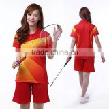High quality New design Light Blue Women Badminton Jersey or Womens Fitness Wear and Tshirt Polo with factory prices