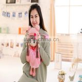 55*25cm beautiful customized light pink stuffed plush Feir girl doll backpack with matched hat&skirt