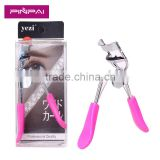 2016 hot sale coloful plastic handle covered metal eyelash curler