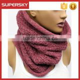 A-73 knitted cowl neck scarf chunky neck wrap warmer winter heated neck warmer