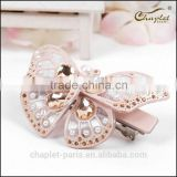 2015 bridal butterfly hair accessory of high quality rhinestone valentine's day hair barrette for women