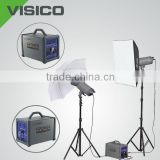 Photo Equipments with softbox, umbrella for outdoor shooting, power pack for outside studio light
