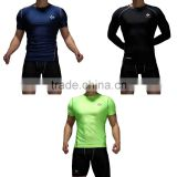 Guangzhou clothing factory custom design printing gym short sleeve dry fit t-shirts training & jogging sports wear type for male