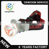 High performance energy saving portable head torch rechargeable led headlamp for fishing