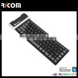Roll Up waterproof folding flexible rubber silicone Bluetooth keyboard with dustproof and soft keys---SKB-212--Shenzhen Ricom