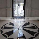 black and white marble floors, fancy waterjet marble tiles wholesale, water jet marble