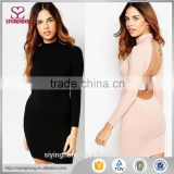 2016 autumn new design sexy open strap back long sleeve bodycon dress for women in party