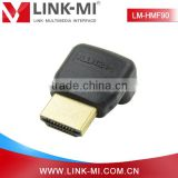 LM-HMF90 90 Degree HDMI1,4 Version HDMI Male to HDMI Female Adapter For LCD TV/Set-top Box/Camera
