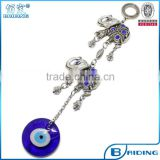 car interior animal butterfly elephant charms tassels glass evil eye metal keychain