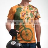 Athletic Apparel Dry Fit T shirt Bicycle Theme Cycling Sports Garment Tshirt