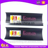 Custom Paper pillow box for hair extension packaging