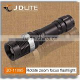 Rotate zoom focus battery operated torch ebay led light with clip