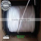 Dual RG6 Quad Shield 3 GHz coax cable for Satellite TV Broadband Cable TV VSAT,TV Antenna and MATV and SMATV distribution