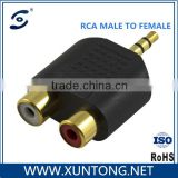 Nickel Plated 3.5mm Female MONO Plug to RCA Male Mono Jack