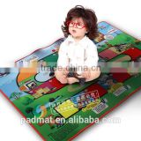 anti skid baby sitting mat, S playing card, cartoon graphic floor mat