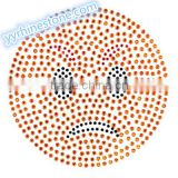 Hottest Sell Lovely Emoji smile face Rhinestone Iron-on Rhinestone Transfer Wholesaler #4