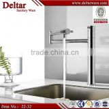 luxury stainless steel brushed water tap, kitchen sink water faucet, new design widespread tap mixer