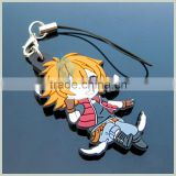 cartoon boy plastic blank key chain in china