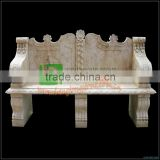 Hand carved marble bench