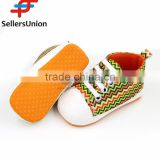No.1 yiwu exporting commission agent wanted Promotional Canvas Soft-soled Baby Shoes With Paillette Decorated