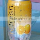 PET Transparent Soft Drink Can Plastic Soda Can Beverage Can With Easy Open End