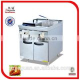 Free Standing Stainless Steel Gas Fryer With Cabinet(2-tank)(GF-785-2)