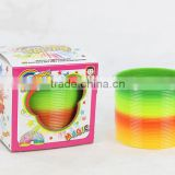 hot sale magic rainbow spring for kids educational rainbow spring toys/ plastic rainbow circle