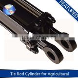 Black color quality assured piston type hydraulic telescopic cylinder for sale