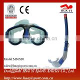 Diving equipment scuba diving tempered mask with snorkels set