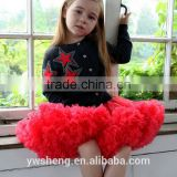 High quality baby girls fluffy chiffon pettiskirts kids tutu skirts children short pettiskirts