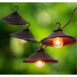 Garden Decor Light-Decorative Beaded Copper Wire Ball string light 10ctDecorative G40 Bronze Cafe Light 8ct