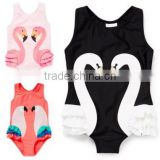 2017 summer girls swimsuit hot sale toddle flamingo swimwear black velvet bathing suit