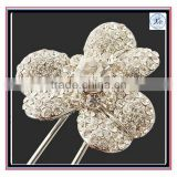 Factory wholesale Fashion clear stone setting plum women hair pins accessories