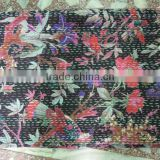 Black Bird kantha Bedspread Quilts/Throw/Blanket/Gudari for Christmas Gift