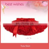 Red color Girls tutu shirt party costumes