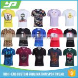 Wholesale Factory Custom Printed Sublimation T Shirt , All Over Sublimated T Shirts