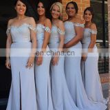 Wedding Party Gowns 2016 Hot Sale Sweetheart Long Mermaid Bridesmaid Dresses for Wedding Off the Shoulder Formal Dresses