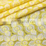 african high quality yellow swiss lace