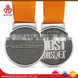 Hot Sell Custom Zinc Alloy Medal with Plain Ribbon