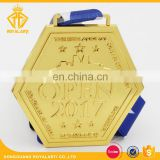 Factory Price Shiny Gold Die Casting Metal Medal for New Annual