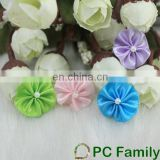 Wholesale satin ribbon flower making
