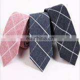 2017 new design cotton linen men ties