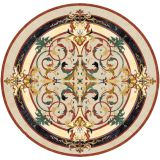 Manufacture custom made hotel lobby flooring design natural marble waterjet medallion tiles