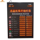 Shenzhen factory electronic price exchange rate display board With Moving Message Hotsale Nigeria LED Exchange Rate Board