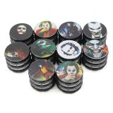 D63mm&H50mm aluminium alloy 4-layer white line colour printing comic and animation smoking grinder tobacco grinder
