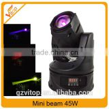 Sharpy price mini stage light 45W led beam moving light / stage mini lights beam                                                                                                         Supplier's Choice