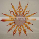 2015 Hot Sales China Production Indoor Metal Crafts Sun Shaped Wall Clock