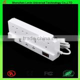 CE Factory Wholesale Cheap Price 4 Ways 4 USB UK Multi Extension Socket