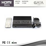 OEM/ODM Ultra 4x2 HDMI Matrix with factory price 1080P
